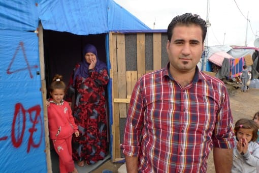 Mr Ali, a Syrian refugee.