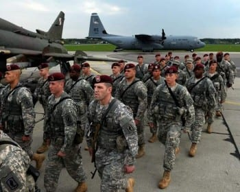 US paratroopers in Poland, again, showing resolve against a putative Russian desire to invade Western Europe.