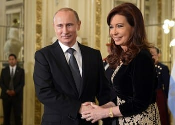 Vladimir Putin, Cristina Fernandez