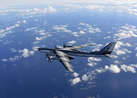 It reflects Moscow's increasingly tough posture amid tensions with the West over Ukraine.(AP Photo/Royal AIr Force)