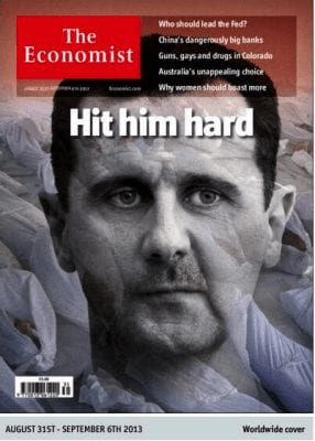 The jackals of the Western media have never ceased their demonization of Pres. Assad, Putin or Iran.