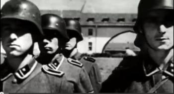 A death squad battalion, at attention. (Screen grab-TGP)