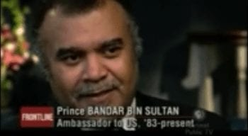 Prince Bandar: most probable mastermind of false flag chemical attack in Syria imputed to Assad. (YouTube screen grab TGP)