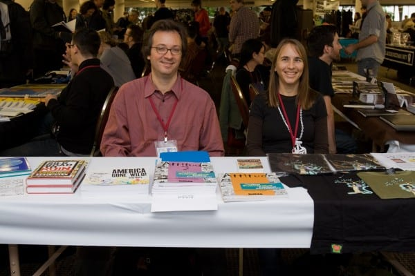 Stephanie at the Stumptown Comics Festival, 2007.