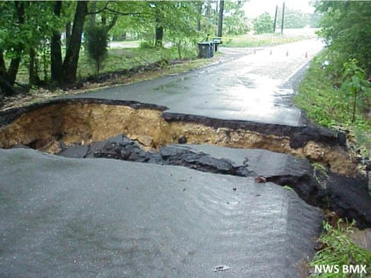 Floods caused by climate change can cause huge natural disasters, such as fierce floods. (NOAA.gov)