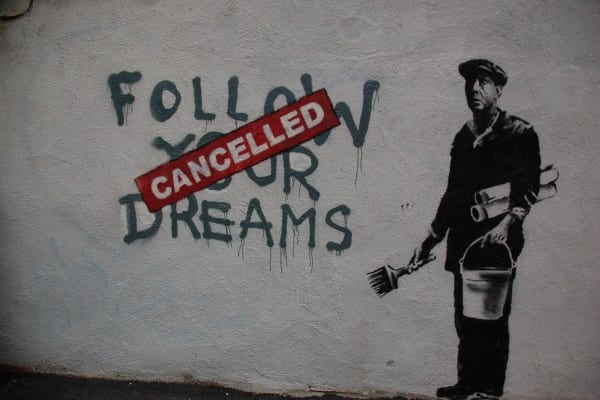 """Capitalism dream cancelled."" (Chris Devers, flickr)"