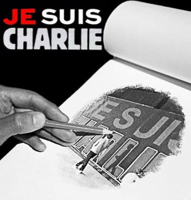 """""""Je Suis Charlie""""—the new motto adopted by mass public opinion and endorsed by liberals' mawkish temperament. (Jacinta Illuch Valero, via Flickr)"""