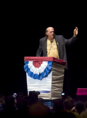 Gov. Jesse Ventura at the podium. (2008). Via Cory Barnes/flickr.