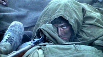 Jude Law as Zaitsev in Enemy at the Gates.