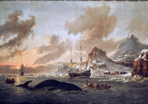 Dutch whalers, murdering these animals in 1690, for profit, of course. Looking at nature and animals as mere tools for self-enrichment is an old concept endorsed by many religions. (Wikipedia)