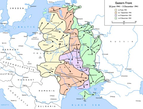 German Advancement on the Eastern Front in 1941