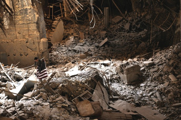 With total impunity, the US has turned Iraq in one gigantic heap of rubble. Many soldiers—more ignorant and brainwashed that