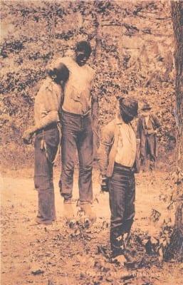 Triple lynching in Georgia, May 1892 (Public domain)