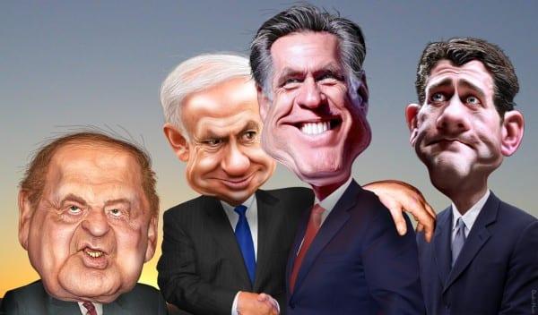 Sheldon AdelsonRomney-Ryan-Netanyahu.DonkeyHotey.flickr