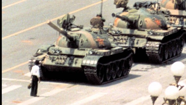 The Tiananmen clash: David vs. Goliath. A triumph of propaganda for teh West.