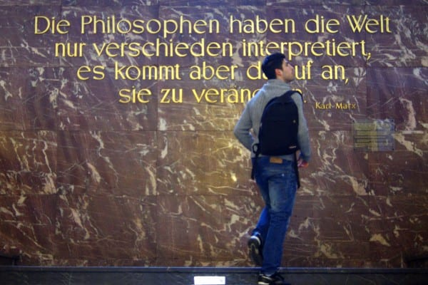 """The philosophers have only interpreted the world, in various ways. The point, however, is to change it."" (Via Frank M. R"