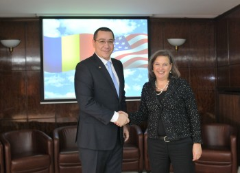 Nuland sowing intrigue in Romania. The woman is radioactive.