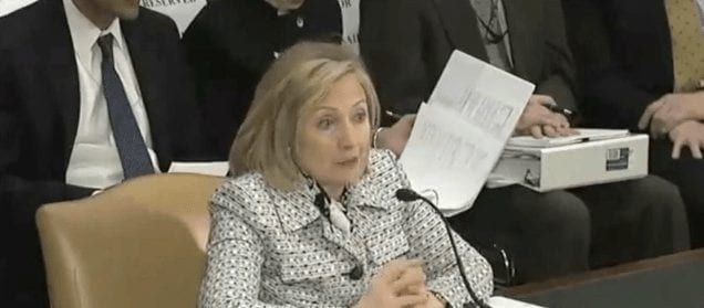 """Hillary Clinton: """"Were losing the information war!"""" The huge Western machinery of propaganda is not enough for her."""