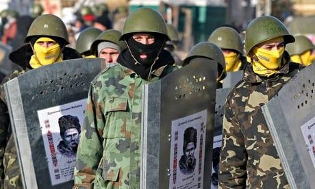 "Kiev Maidan ""self-defense"" forces in February 2014."