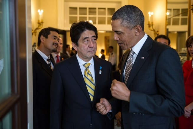 Obama and vassal leader Abe: Nothing that this duo plots is good for humanity.