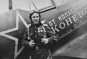 Ivan Kozhedub, a Soviet military aviator, a three-time Hero of the Soviet Union, and one of the best-known aces of WWII.