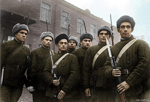 Leningrad defenders.
