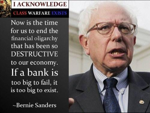 Sanders: Big fiery rhetoric, centrist liberaloid actions.