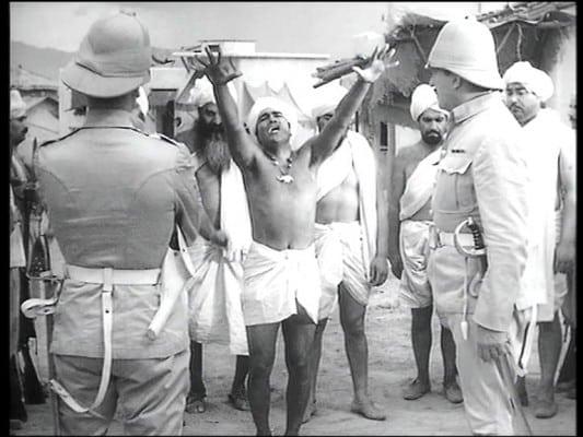Gunga Din's highest purpose in life is to die defending British rule in India. So say Kipling and Hollywood.