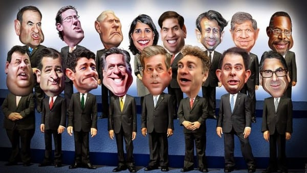 The 2016 GOP clown brigade.
