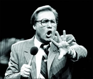 Jimmy Swaggart was another rightwing/religious charlatan whose hubris and  overreach finally brought about his downfall.