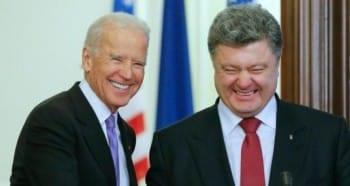 Poroshenko with US VP Joe Biden, high emissary from the empire.
