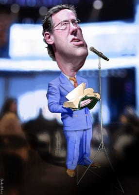 Santorum: a worshipper of capitalism, like his fellow Repubs.