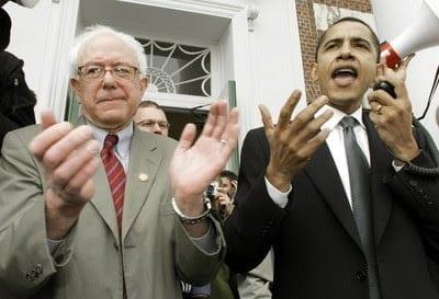 Bernie-Sanders-and-Obama