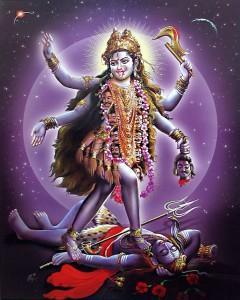 Kali, a violent manifestation of Shakti