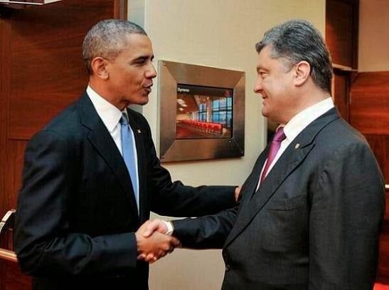 Obama e Petro Poroshenko em Varsóvia-3-6-14