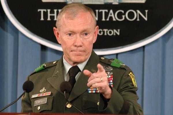 "Martin Edward ""Marty"" Dempsey is a United States Army general and the 18th and current Chairman of the Joint Chiefs of Staff."