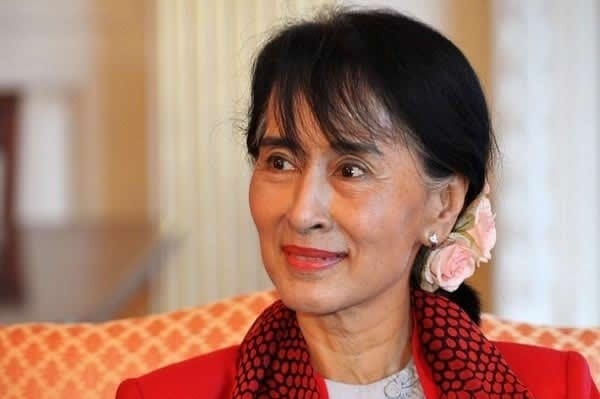 """Myanmar's Aung San Suu Kyi: The West's new regional propaganda pawn. Before there was Aquino, Chamorro, and otehrs. Washington always finds these upper-class """"dissidents"""" ready to do its bidding."""