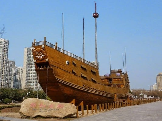 Treasure Boat reconstruction in Nanjing.  (Click to expand.)