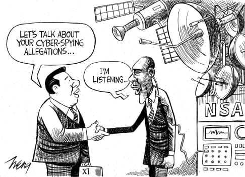 Obama-NSA-spying-on-Xi-cartoon-scmp.com_