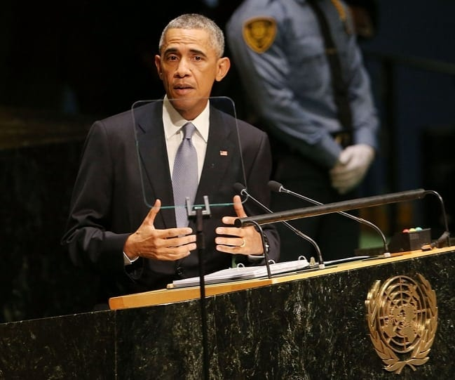 Con man Obama at the UNO: shameless lies, as usual.