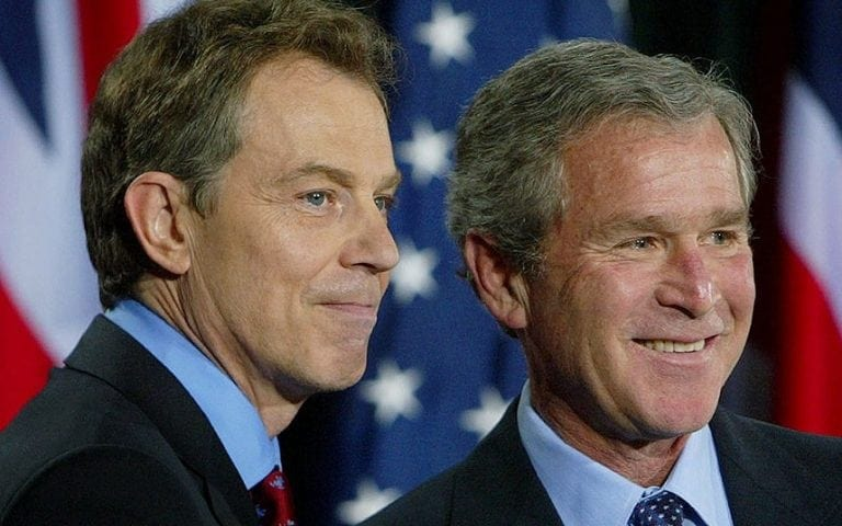 Blair and Bush: Two major war criminals still at large. A one-way ticket to the gallows is what they deserve.