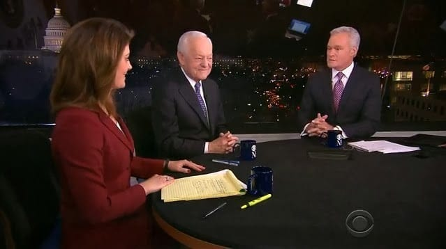 Nora O'Donnell, Bob Schieffer, and Charlie Rose: three pathetic, self-impressed mediocrities in the CBS stable who actually believe themselves to be journalists, while their true role is that of propagandists for the empire. But, insulated from reality, all multimillionaire celebrities, impregnated with the all-enveloping brainwash, who is to tell if they really unaware of their complicity?