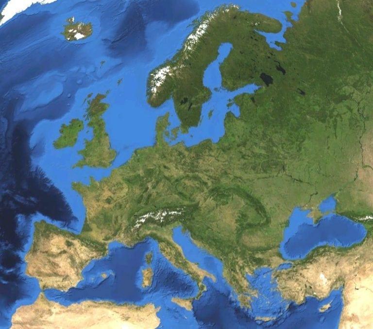 Europe-satellite-map