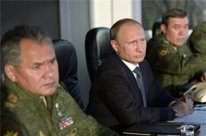 Putin and Defense Minister Shoigu. Russia is back in the game, and a new world order may dawn.