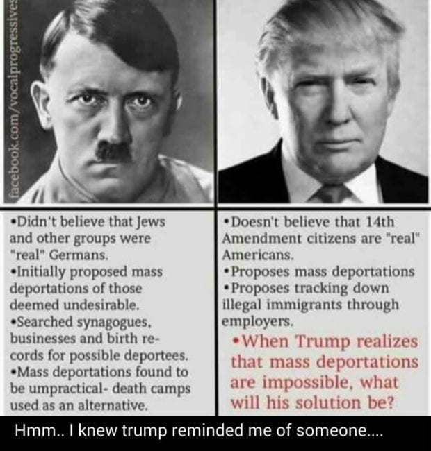 Hitler Quotes On Youth: Trump-compared-to-hitler