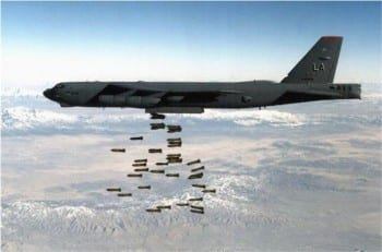 B-52s carpet bomb Vietnam in Operation Rolling Thunder, one of those idioticatically named sociopathic campaigns mounted by the corporatized military. They are still at it in other battlefields.
