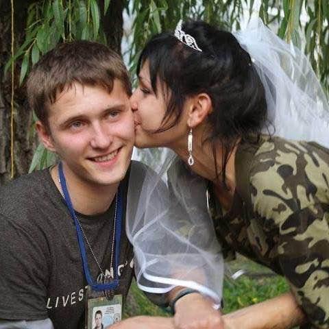 Fedorov, with his bride.