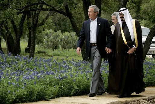 George W. Bush and Crown Prince Abdullah 2005