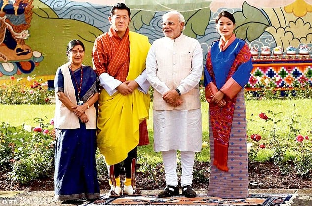 The royal couple hosting India's PM Mori.