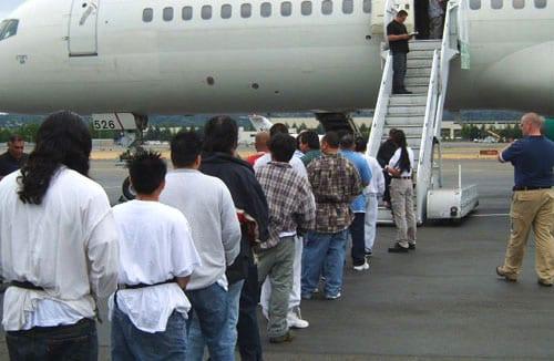 "Latino ""undocumented"" immigrants deported under Obama."